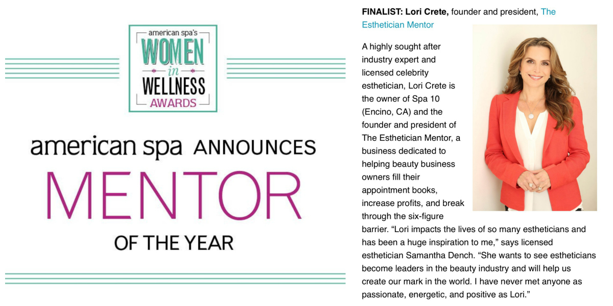 Lori Crete Mentor of the Year Finalist